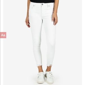 """NWT Kut From The Kloth White """"Connie Ankle Skinny"""""""